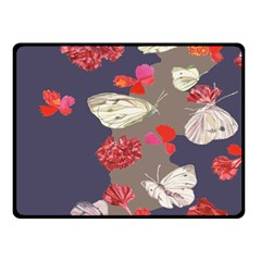 Original Butterfly Carnation Double Sided Fleece Blanket (small)  by Mariart