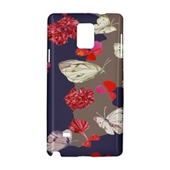Original Butterfly Carnation Samsung Galaxy Note 4 Hardshell Case by Mariart