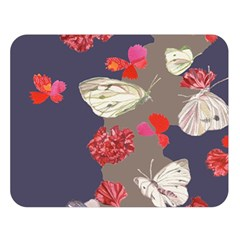 Original Butterfly Carnation Double Sided Flano Blanket (large)  by Mariart