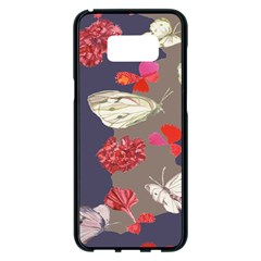 Original Butterfly Carnation Samsung Galaxy S8 Plus Black Seamless Case by Mariart
