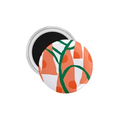 Portraits Plants Carrot Polka Dots Orange Green 1 75  Magnets by Mariart