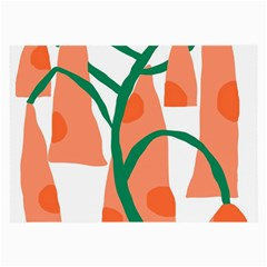 Portraits Plants Carrot Polka Dots Orange Green Large Glasses Cloth (2 Side) by Mariart