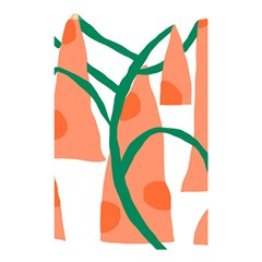 Portraits Plants Carrot Polka Dots Orange Green Shower Curtain 48  X 72  (small)  by Mariart