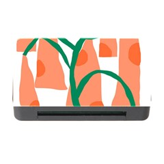 Portraits Plants Carrot Polka Dots Orange Green Memory Card Reader With Cf by Mariart