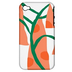 Portraits Plants Carrot Polka Dots Orange Green Apple Iphone 4/4s Hardshell Case (pc+silicone) by Mariart
