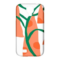 Portraits Plants Carrot Polka Dots Orange Green Samsung Galaxy S4 Classic Hardshell Case (pc+silicone) by Mariart