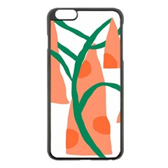 Portraits Plants Carrot Polka Dots Orange Green Apple Iphone 6 Plus/6s Plus Black Enamel Case by Mariart
