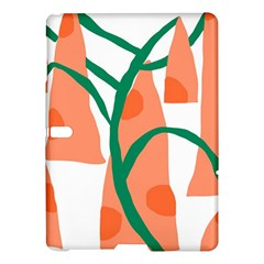 Portraits Plants Carrot Polka Dots Orange Green Samsung Galaxy Tab S (10 5 ) Hardshell Case  by Mariart