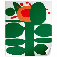 Portraits Plants Sunflower Green Orange Flower Canvas 8  X 10  by Mariart
