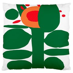 Portraits Plants Sunflower Green Orange Flower Large Cushion Case (two Sides) by Mariart