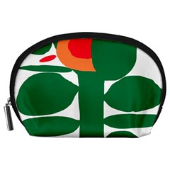 Portraits Plants Sunflower Green Orange Flower Accessory Pouches (Large)