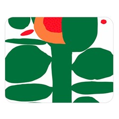 Portraits Plants Sunflower Green Orange Flower Double Sided Flano Blanket (large)  by Mariart