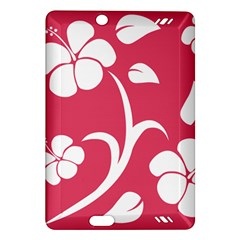 Pink Hawaiian Flower White Amazon Kindle Fire Hd (2013) Hardshell Case by Mariart