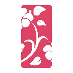 Pink Hawaiian Flower White Samsung Galaxy Alpha Hardshell Back Case by Mariart