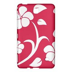 Pink Hawaiian Flower White Samsung Galaxy Tab 4 (8 ) Hardshell Case  by Mariart