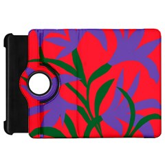 Purple Flower Red Background Kindle Fire Hd 7  by Mariart