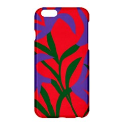 Purple Flower Red Background Apple Iphone 6 Plus/6s Plus Hardshell Case by Mariart