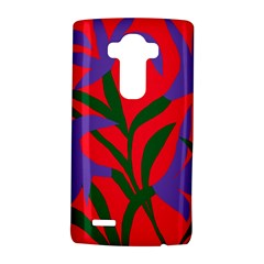 Purple Flower Red Background Lg G4 Hardshell Case by Mariart