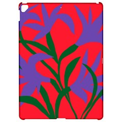 Purple Flower Red Background Apple Ipad Pro 12 9   Hardshell Case by Mariart