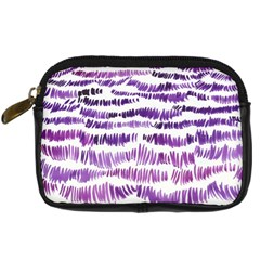 Original Feather Opaque Color Purple Digital Camera Cases by Mariart