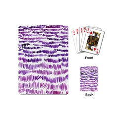 Original Feather Opaque Color Purple Playing Cards (mini)  by Mariart