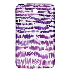 Original Feather Opaque Color Purple Samsung Galaxy Tab 3 (7 ) P3200 Hardshell Case  by Mariart
