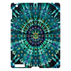 Peacock Throne Flower Green Tie Dye Kaleidoscope Opaque Color Apple Ipad 3/4 Hardshell Case by Mariart