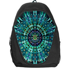 Peacock Throne Flower Green Tie Dye Kaleidoscope Opaque Color Backpack Bag by Mariart
