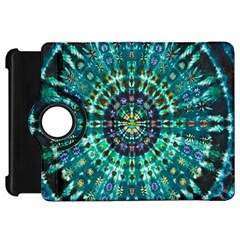 Peacock Throne Flower Green Tie Dye Kaleidoscope Opaque Color Kindle Fire Hd 7  by Mariart