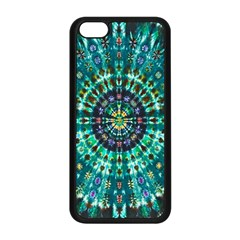 Peacock Throne Flower Green Tie Dye Kaleidoscope Opaque Color Apple Iphone 5c Seamless Case (black) by Mariart