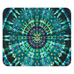 Peacock Throne Flower Green Tie Dye Kaleidoscope Opaque Color Double Sided Flano Blanket (small)  by Mariart