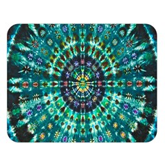 Peacock Throne Flower Green Tie Dye Kaleidoscope Opaque Color Double Sided Flano Blanket (large)  by Mariart