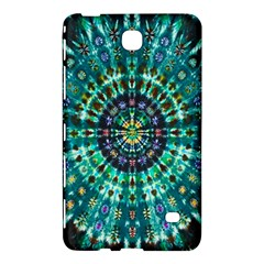 Peacock Throne Flower Green Tie Dye Kaleidoscope Opaque Color Samsung Galaxy Tab 4 (8 ) Hardshell Case  by Mariart
