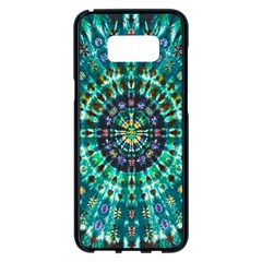 Peacock Throne Flower Green Tie Dye Kaleidoscope Opaque Color Samsung Galaxy S8 Plus Black Seamless Case by Mariart