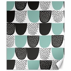 Sugar Blue Fabric Polka Dots Circle Canvas 8  X 10  by Mariart