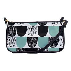 Sugar Blue Fabric Polka Dots Circle Shoulder Clutch Bags by Mariart