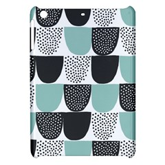 Sugar Blue Fabric Polka Dots Circle Apple Ipad Mini Hardshell Case by Mariart