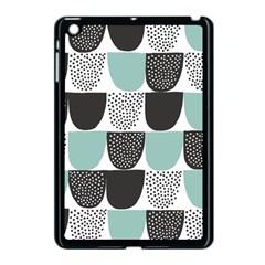Sugar Blue Fabric Polka Dots Circle Apple Ipad Mini Case (black) by Mariart