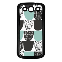 Sugar Blue Fabric Polka Dots Circle Samsung Galaxy S3 Back Case (black) by Mariart