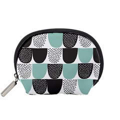 Sugar Blue Fabric Polka Dots Circle Accessory Pouches (small)  by Mariart