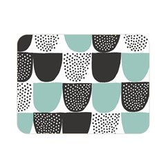 Sugar Blue Fabric Polka Dots Circle Double Sided Flano Blanket (mini)  by Mariart