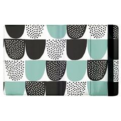 Sugar Blue Fabric Polka Dots Circle Apple Ipad Pro 12 9   Flip Case by Mariart