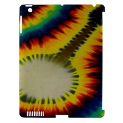 Red Blue Yellow Green Medium Rainbow Tie Dye Kaleidoscope Opaque Color Apple Ipad 3/4 Hardshell Case (compatible With Smart Cover) by Mariart
