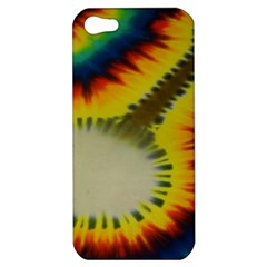 Red Blue Yellow Green Medium Rainbow Tie Dye Kaleidoscope Opaque Color Apple Iphone 5 Hardshell Case by Mariart