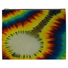 Red Blue Yellow Green Medium Rainbow Tie Dye Kaleidoscope Opaque Color Cosmetic Bag (xxxl)  by Mariart
