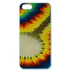 Red Blue Yellow Green Medium Rainbow Tie Dye Kaleidoscope Opaque Color Apple Seamless Iphone 5 Case (color) by Mariart