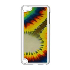 Red Blue Yellow Green Medium Rainbow Tie Dye Kaleidoscope Opaque Color Apple Ipod Touch 5 Case (white) by Mariart