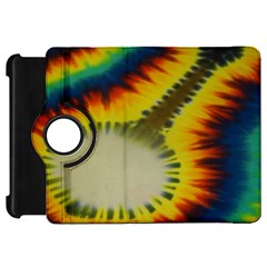 Red Blue Yellow Green Medium Rainbow Tie Dye Kaleidoscope Opaque Color Kindle Fire Hd 7  by Mariart