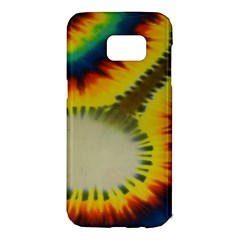 Red Blue Yellow Green Medium Rainbow Tie Dye Kaleidoscope Opaque Color Samsung Galaxy S7 Edge Hardshell Case by Mariart