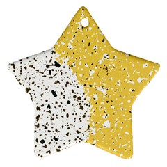 Spot Polka Dots Orange Black Star Ornament (two Sides) by Mariart